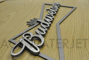 BUDWEISER SIGN MILD STEEL  0.125 &0.250  INCH-2