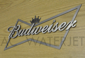 BUDWEISER SIGN MILD STEEL  0.125 &0.250  INCH-4