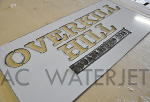 SIGN STAINLESS STEEL LASER CUTTING -1