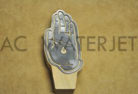 Hand – Mild Steel 18 Gauge Laser Cut