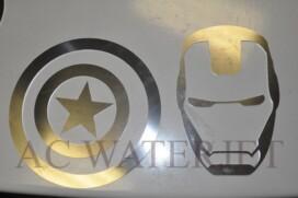"Waterjet Cutting Material: 1/16"" thk Aluminum Finish: 2B matte finish"