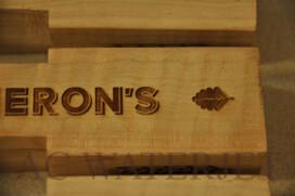 Custom Laser Etching on Wood (Beer Handles)