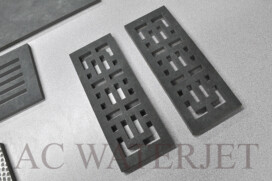 Waterjet Cutting 3/8″ thk  Porcelain Tile  Air Vent