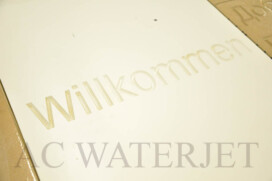 CNC Engraving on Corian -Well come Wall -YORK University