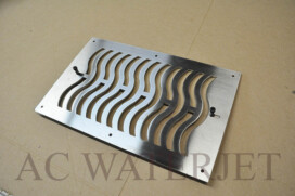 Laser Cutting – Custom Air Vent -1/8″ thk Stainless Steel
